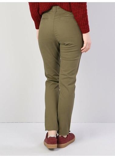 Colin's Slim Fit Orta Bel Skinny Leg Kadın Haki Pantolon Haki